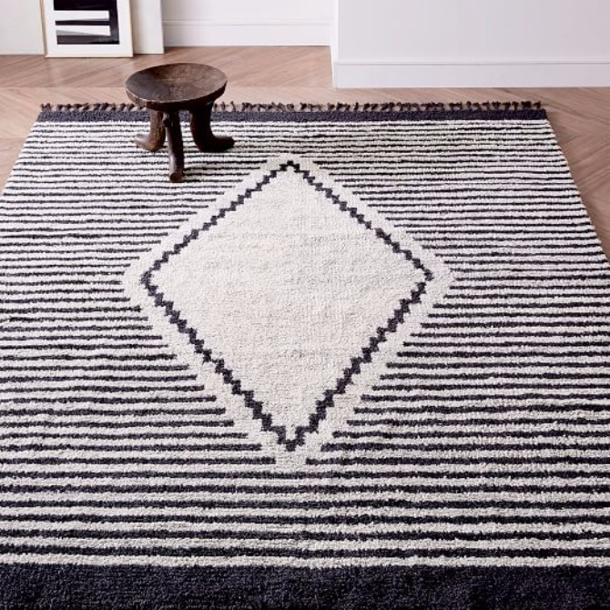 How To Pick The Right Pieces For Your Space modern rugs How To Pick The Right Modern Rugs For Your Space commune diamond rug c