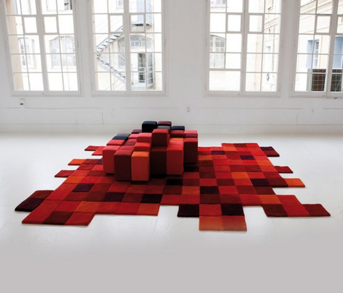 How To Use rug as the inspiration for your home decoration  modern rug How To Use modern rug as the inspiration for your home decoration Contemporary Rugs7