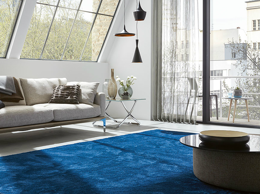 Blue Rug: A Raindrop At Your Home Decor