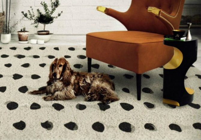 Black and white contemporary rugs