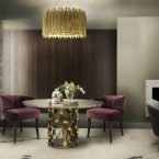 Contemporary glamorous dining room rugs
