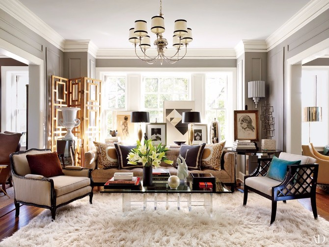 Living Room Rugs: 10 Smashing Ideas In Architectural Digest living room rugs Living Room Rugs: 10 Smashing Ideas In Architectural Digest 10 Smashing Living Room Rugs In Architectural Digest 7