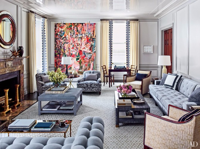 Living Room Rugs: 10 Smashing Ideas In Architectural Digest living room rugs Living Room Rugs: 10 Smashing Ideas In Architectural Digest 10 Smashing Living Room Rugs In Architectural Digest 8