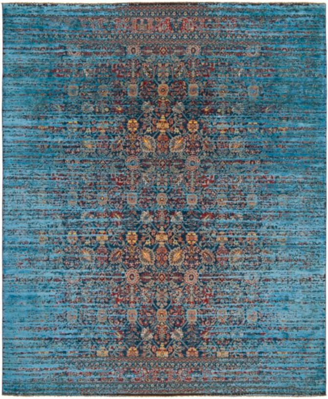 How should the designer Rug of your dreams look?  designer rug How should the designer Rug of your dreams look? ErasedHeritage 4500885 TabrizCanalStomped navyblue blueSilk PS32 249cmx301cm