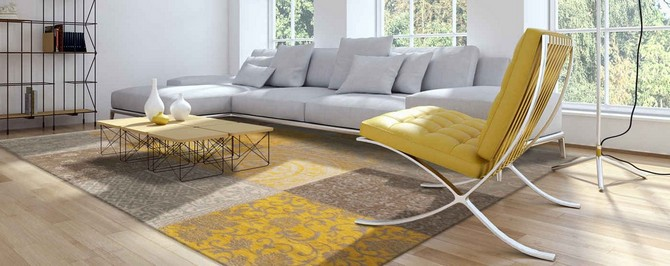 Yellow Rugs Decoration living room rugs Yellow living room rugs decoration, would you dare? 8084 Yellow interior banner 1220x1220