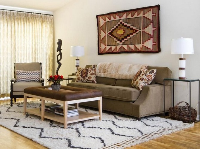 patterned rugs When Patterned Rugs Find Their Place on The Wall 8c13663d54382077713cf212e677061b