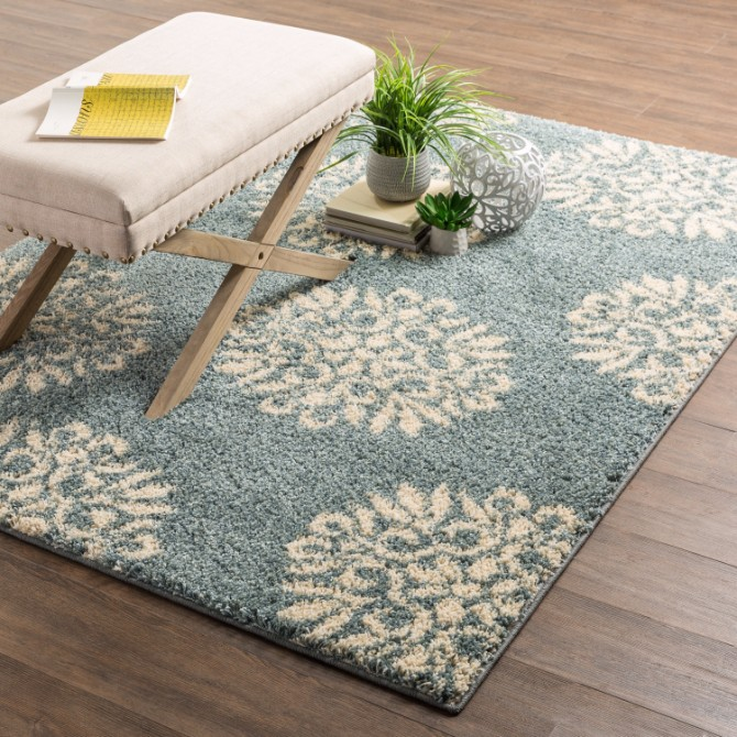 Blue Sky Modern Rugs: 2017 Summer Trend Decoration Modern Rugs Blue Sky Modern Rugs: 2017 Summer Trend Decoration Charlton HomeC2AE Cowden Exploded Medallions Woven Slate Blue Cream Area Rug