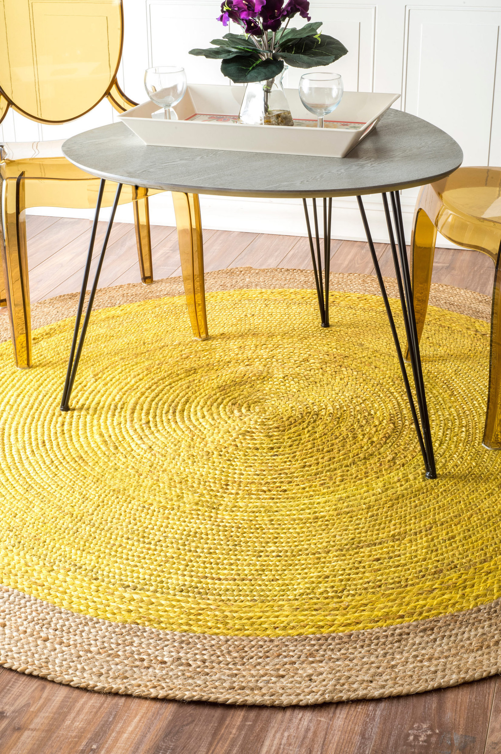 Yellow Rugs Decoration living room rugs Yellow living room rugs decoration, would you dare? Round yellow nuLOOM rug from Overstock