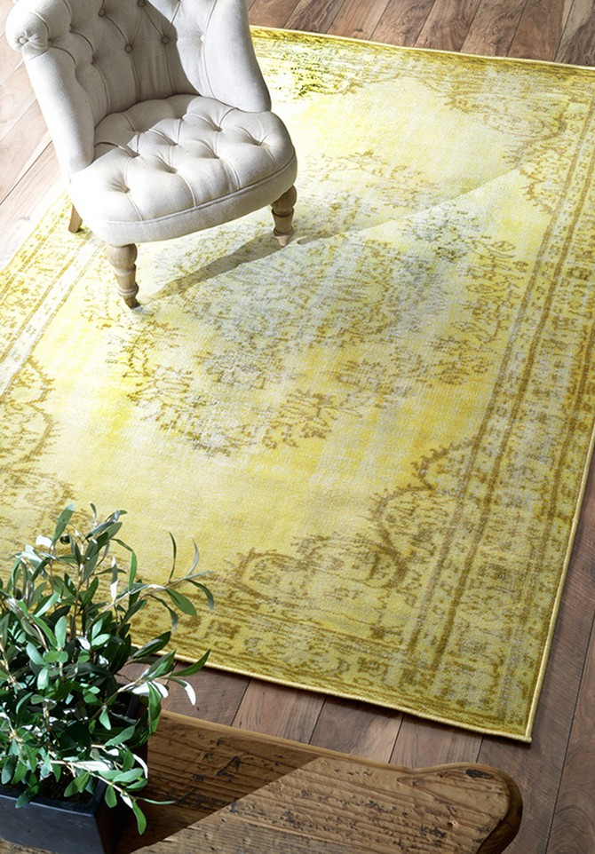 living room rugs living room rugs Yellow living room rugs decoration, would you dare? Vintage yellow nuLOOM rug from Overstock1