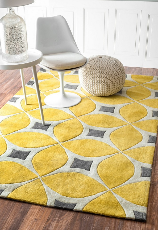 living room rugs living room rugs Yellow living room rugs decoration, would you dare? Yellow nuLOOM handmade modern disco rug from Overstock1