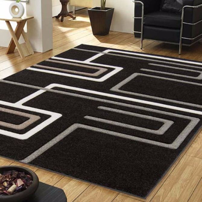 modern rugs How To Style your home using black modern rugs stylish modern living room rugs