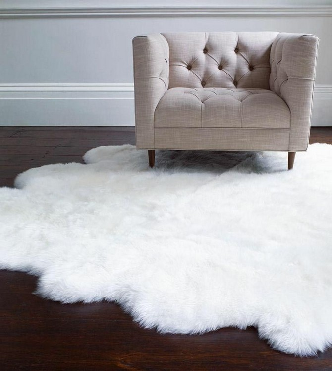 Designing-Your-White-Fluffy-Rugs-On-Rug-Runners-Hearth
