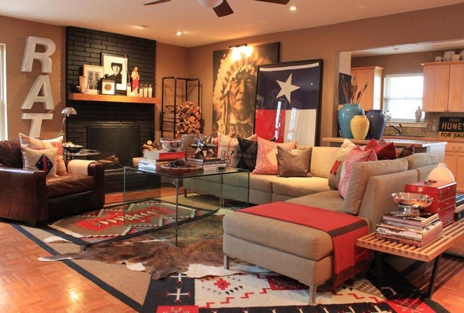 7 Bold Modern Rugs That Honor Fourth Of July Modern Rugs 7 Bold Modern Rugs That Honor Fourth Of July Great Home Decor Patriotic Decorating Ideas Gallery in Living Room Rustic design ideas