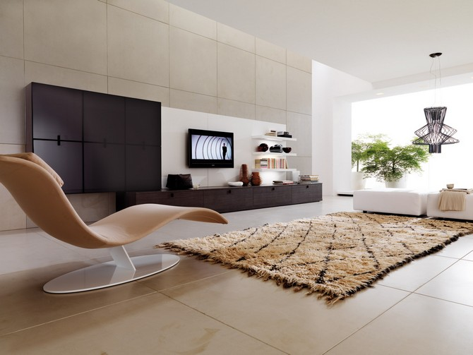 MOST BEAUTIFUL EXOTIC RUGS – Part II contemporary exotic rugs MOST BEAUTIFUL CONTEMPORARY EXOTIC RUGS – Part II decoration simple white cushioned wicker chair rectangular white in home decorations also with awesome brown louge chair and with cozy rug area interior decorations picture simple home decor