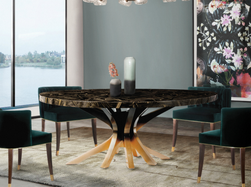 CONTEMPORARY GLAMOROUS DINING ROOM RUGS – Part II