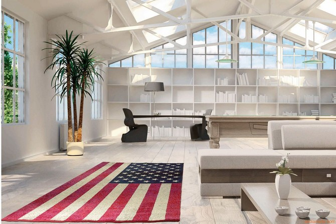 7 Bold Rugs That Honor Fourth Of July Modern Rugs 7 Bold Modern Rugs That Honor Fourth Of July hires flags modern rug with american falg pattern