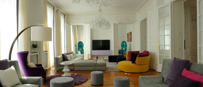 How To Decorate Around Purple Modern Rugs