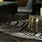 black and white rug black and white rug For an elegant living room we choose a black and white rug For an elegant living room we choose a black and white rug 145x145