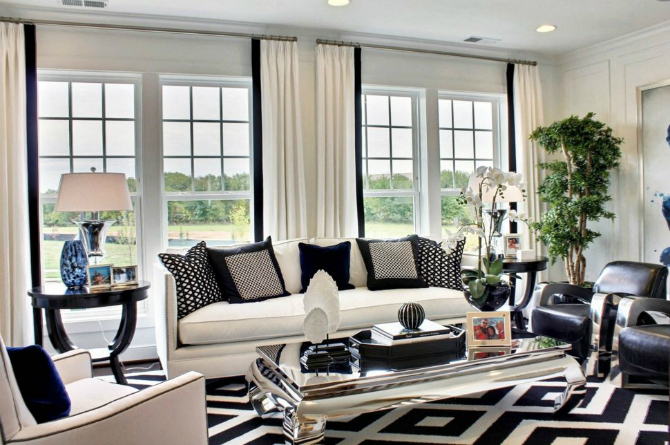 black and white rug black and white rug For an elegant living room we choose a black and white rug For an elegant living room we choose a black and white rug