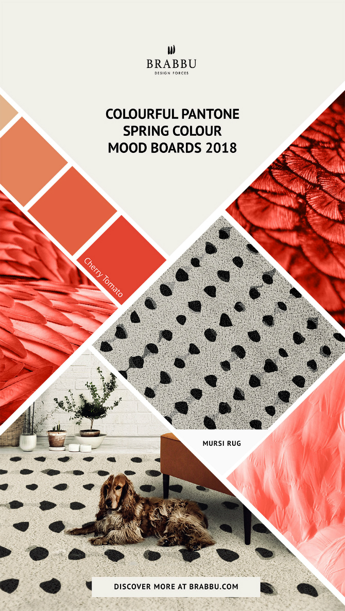 Spring Moodboards  spring moodboards Incredible Contemporary Rugs Spring Moodboards with Pantone Colors 2018 Moodboards Rugs Press 2