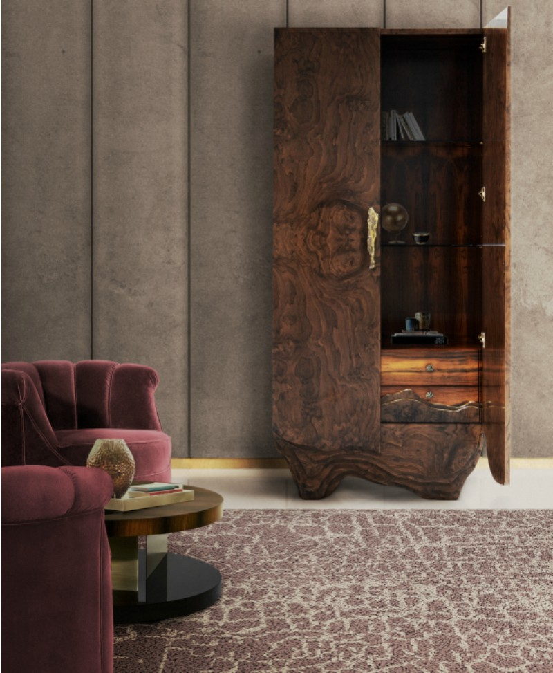 The top materials most loved in Modern Rugs  modern rugs Modern Rugs- The Top Materials 127 Huang sideboard Hera Armchair