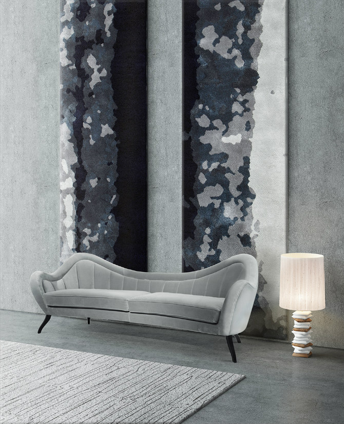 2019 Interior Design Trends: Dazzling Rugs to Start the New Year 2019 interior design trends 2019 Interior Design Trends: Dazzling Rugs to Start the New Year BALTIC RUG Black White D  cor