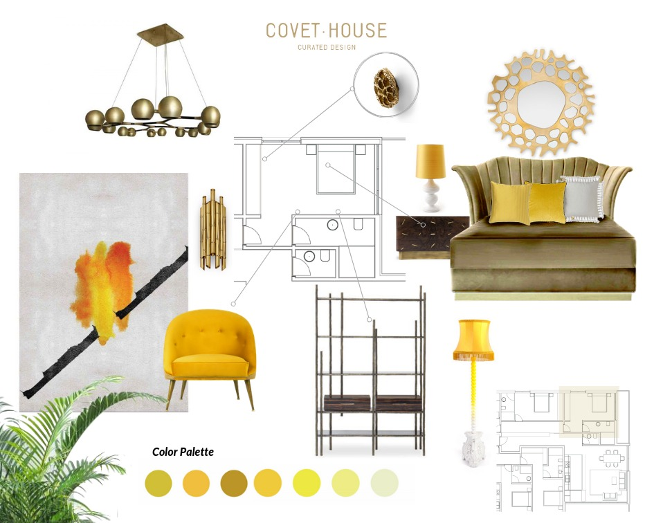 Honey Yellow Moodboard moodboards 4 Colourful Moodboards to Inspire You HoneyYellow Moodboard