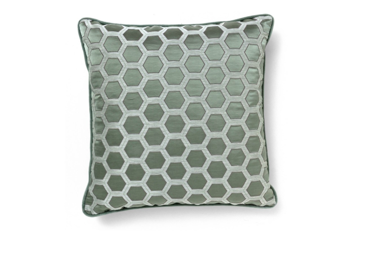 Mid-Century  mid-century Mid-Century Style: The Deluxe of Past Honeycomb Blue Pillow