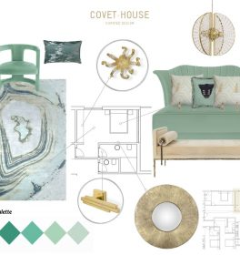 Neo Mint Moodboard moodboards 4 Colourful Moodboards to Inspire You NeoMint Moodboard 264x280