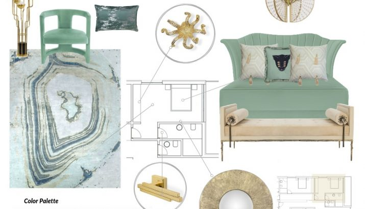 Neo Mint Moodboard moodboards 4 Colourful Moodboards to Inspire You NeoMint Moodboard 715x410