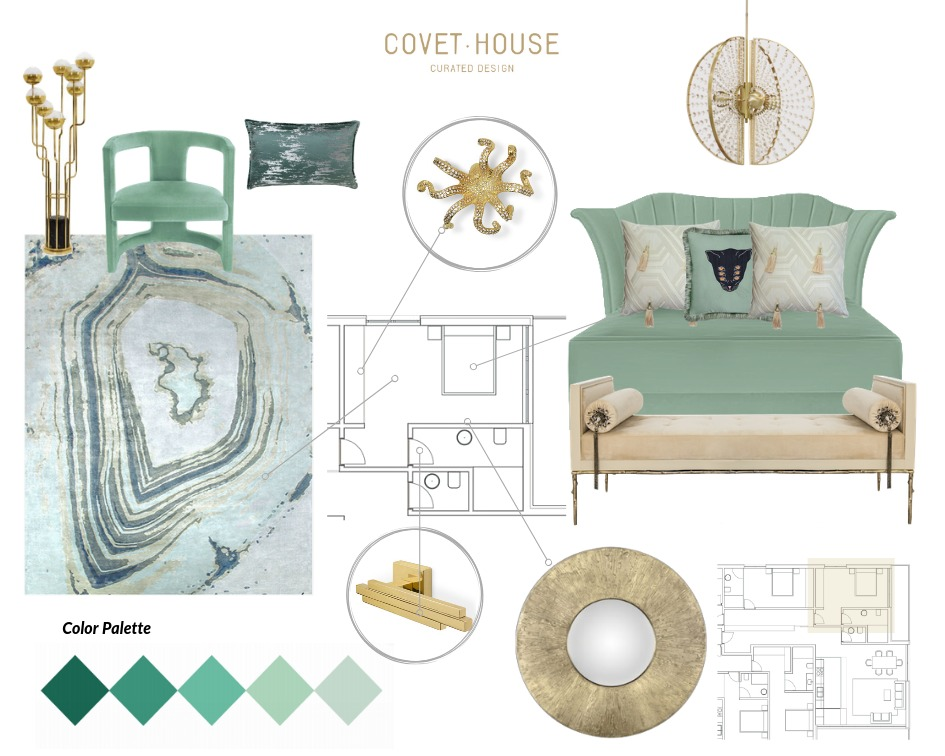 Neo Mint Moodboard moodboards 4 Colourful Moodboards to Inspire You NeoMint Moodboard