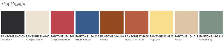 Pantone pantone Pantone The Prints Charming Trend Pantone the Prints Charming Trend Palette