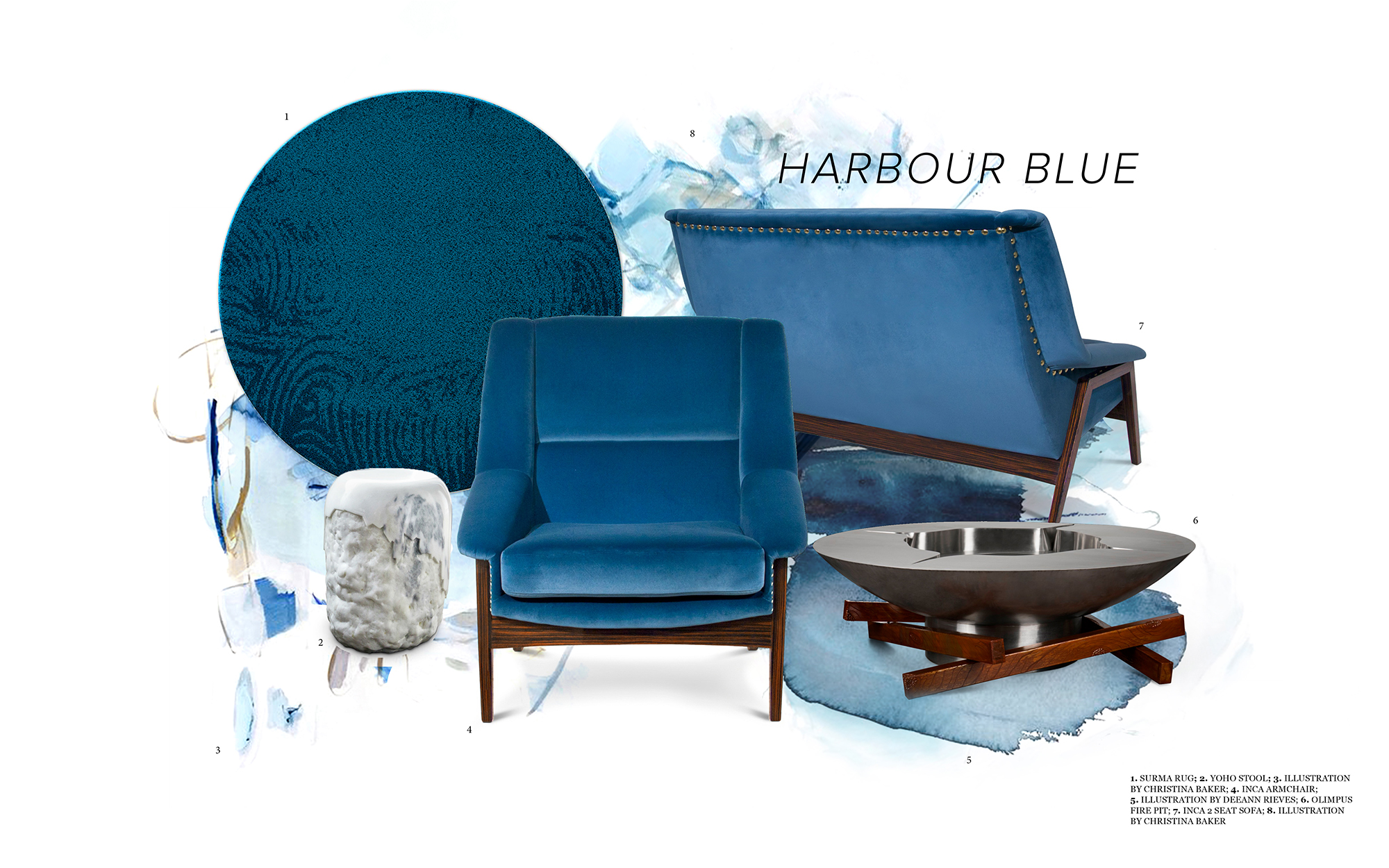 Harbour Blue- Always a good idea blue Harbour Blue- Always a good idea Moodboard 1