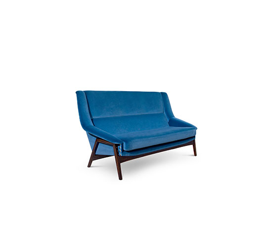 Harbour Blue- Always a good idea blue Harbour Blue- Always a good idea inca 2 seater sofa mid century modern design 1