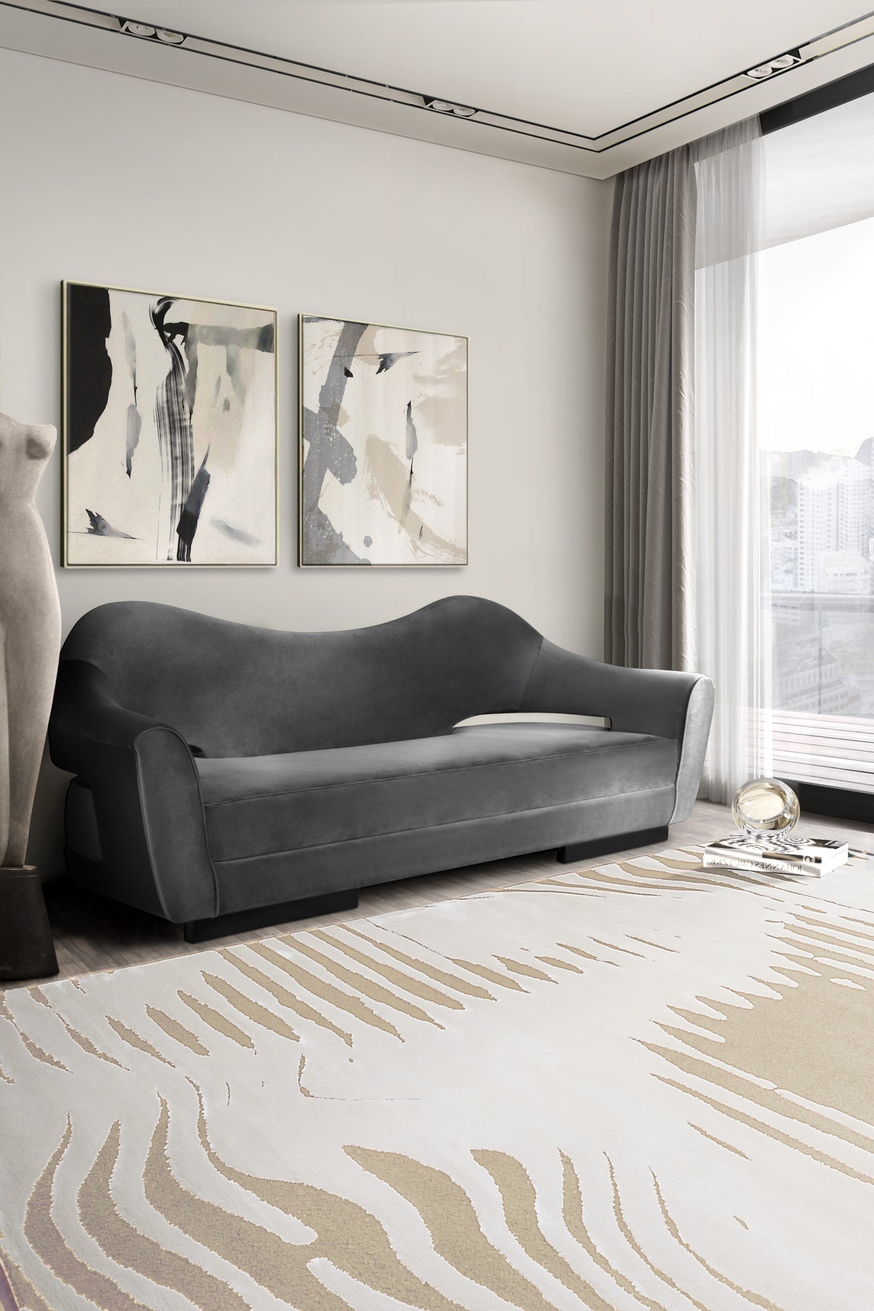 Best Monochromatic Rugs To Get You Started On This Trend monochromatic rugs Best Monochromatic Rugs To Get You Started On This Trend kotta living room scaled