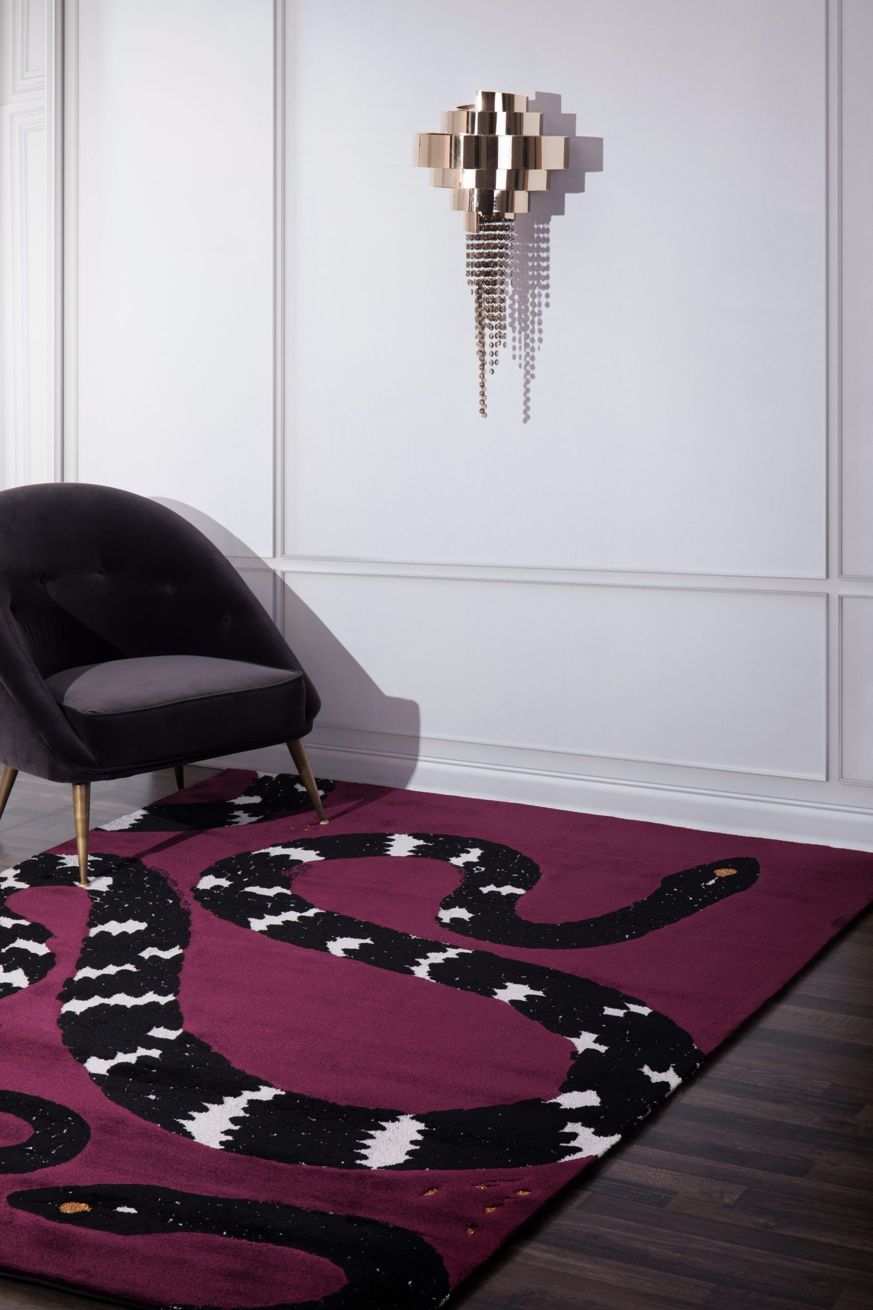 dark tones Dark Tones – Choose The Best Rug To Renovate Your Home snake 8 living room scaled