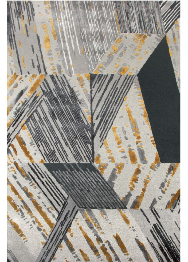 Full-Proof living room designs focusing on your rug  xisto rug in gray and gold