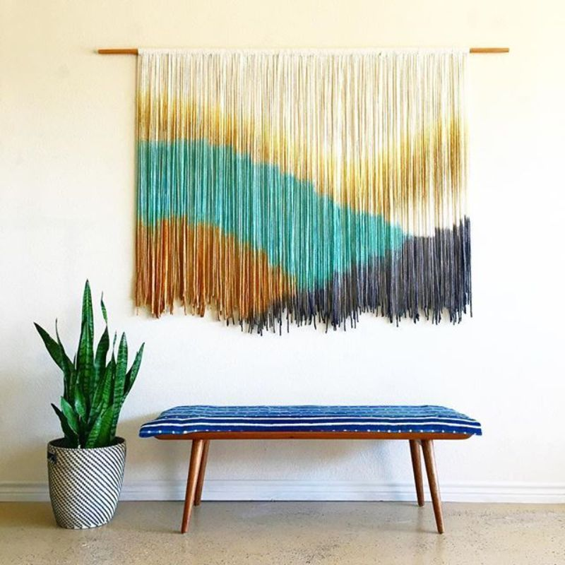 Wall Rug Interior Decoration by Lauren Williams colorful rug